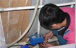 商铺安装电子远传水表案例