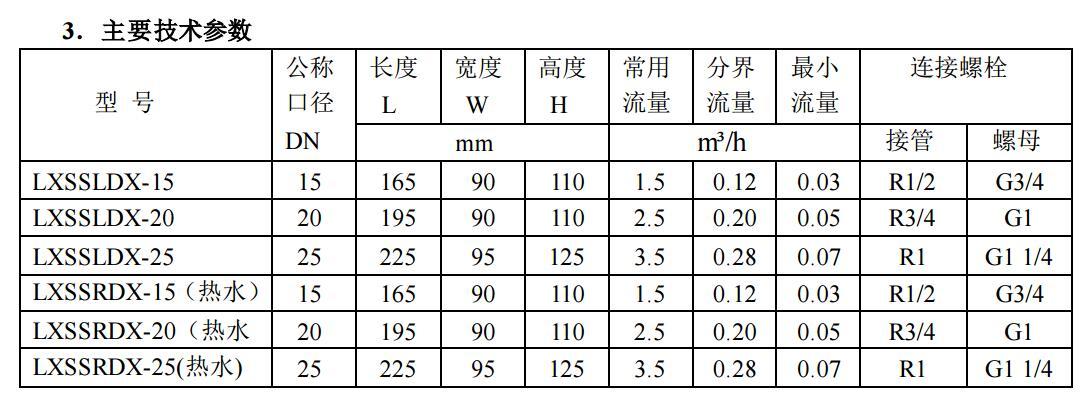 无线抄表电子远传水表产品资料